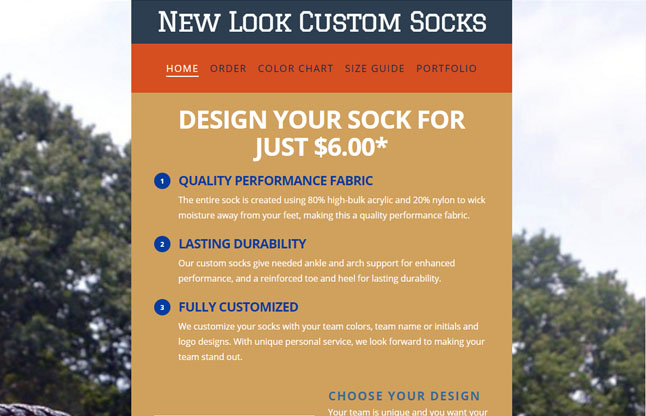 New Look Custom Socks
