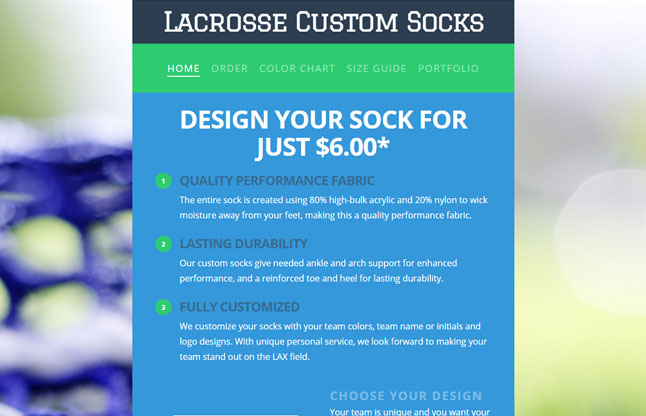 Lacrosse Custom Socks